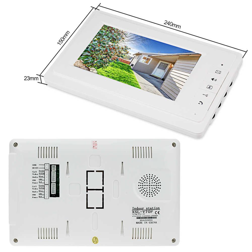 فيديو جرس باب إنتركوم 7 ''tft لون السلكية فيديو باب الهاتف نظام للمنزل داخلي رصد 700TVL في الهواء الطلق كاميرا الأشعة تحت الحمراء للرؤية الليلية