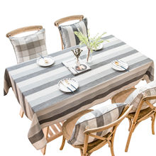 Stripe Rectangular Tablecloths Luxury Neat Table Cloth 140 * 180cm Home Kitchen Pad on the Table Journal Oilcloth Tablecloth