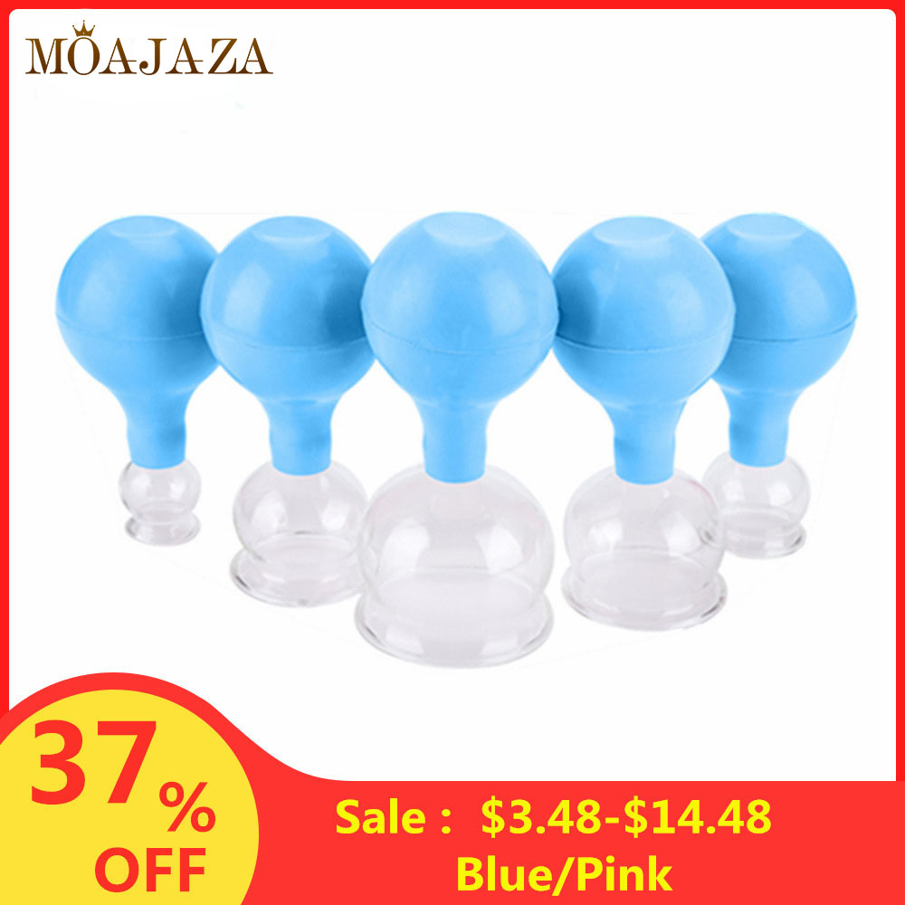 Vacuum Cupping Set Rubber Head Glass Suction Body Cup Massage Cans Anticellulite Massager Chinese Medical Therapy Massage Jars