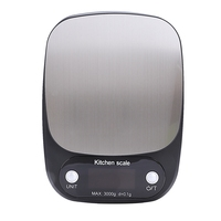 Balance Cuisine Electronic Digital Kitchen Scales Food Scale Gadgets Electronicos Electronic Scale Grams Kitchen Tool Black|Bathroom Scales| |  -