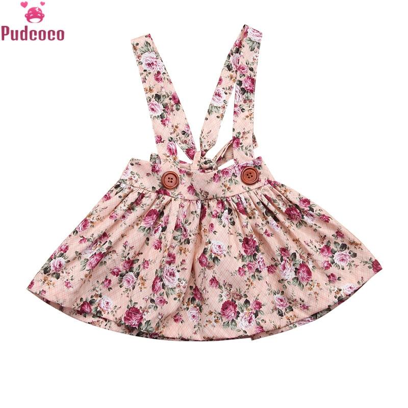 Юбка-пачка без рукавов с цветочным принтом для маленьких девочек; Комбинезоны на подтяжках; Одежда для новорожденных; вечерние юбки на лямках
