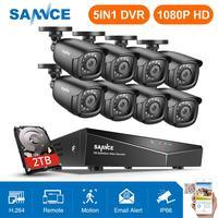 SANNCE 8CH 1080P 2.0MP HD CCTV система видео рекордер 8 шт 1080P CCTV камера безопасности Водонепроницаемый ночного видения комплекты видеонаблюдения