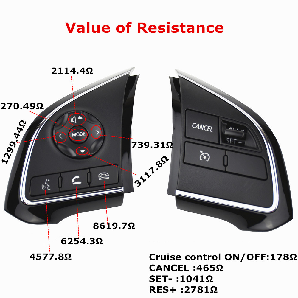 Image 3 - Phone Cruise Control steering wheel switch Auto Spare Parts steering wheel buttons For Mitsubishi Outlander 2013 2015 2016 2018-in Car Switches & Relays from Automobiles & Motorcycles