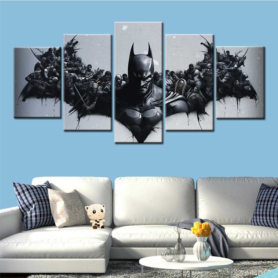 Batman Arkham Origins video game art Canvas Painting Poster Wallpaper Decorative Wall Picture for Living Room Home Decor posters image