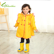 Kids Rain Suit Yellow Fun Outdoor Girls Raincoats Thicken Waterproof Coat Poncho  Toddler 60YY194