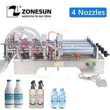ZONESUN Fully Pneumatic Filling Machine Bottle Dispenser Filling Machine Food Beverage Machinery Bottle Water Making Machines