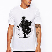 2019 Newest Men T-shirt Fashion Japanese Ronin Design T Shirt Man Camisetas Hombre Funny Warrior Print Mens Top