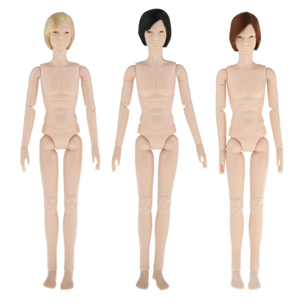 BJD 24 Jointed Angepasst Puppe Körper 3D Augen Machen Zubehör Weiß Haut