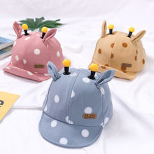 Chapéu bonito do bebê da menina do menino com orelhas dos desenhos animados dot criança boné do bebê verão outono algodão macio infantil boné de beisebol sol viseira chapéus