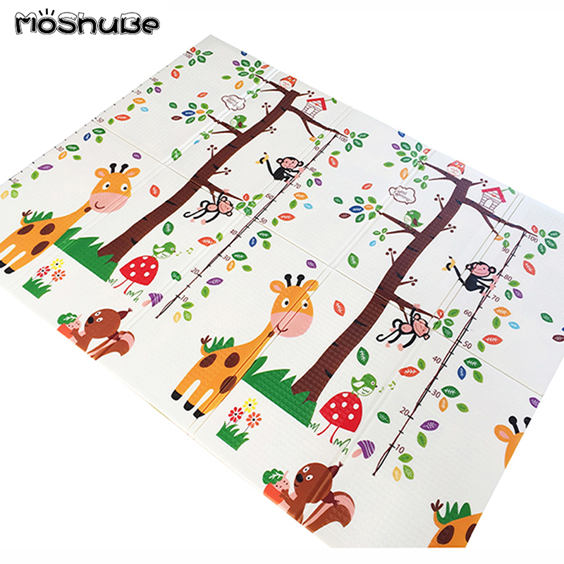 Baby Foldable Play Mat 150X200CM Toddler Kids Rug Thick Home Room 1CM Thickness Child Climbing Developing Mat Toys