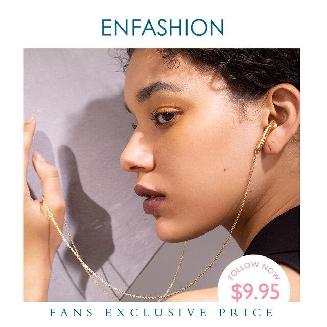 Enfashion metal fones de ouvido corrente gargantilha colar feminino cor do ouro aço inoxidável colares femme moda jóias p193048