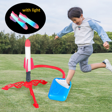 Adjustable Stomp Rocket Launcher Toys Sport Game Kids Rocket Launcher Air Step Pump Power Rocket Outdoor Sport Toys For Children
