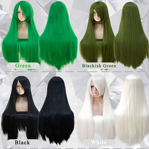 Image 4 - Pageup 100cm Long Straight Wigs With Bangs Heat Resistant Synthetic Hair For Women Red Brown Blonde Cosplay Wigs
