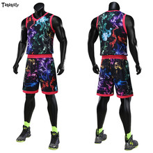 цена на New men throwback basketball jerseys camouflage basketball uniform blank women team tracksuits customized jerseys clothes 2020