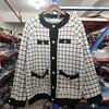 [EWQ] Autumn 2020 New Sweater Coat Retro Shirt Check Long Sleeve Single Breasted Plaid Loose Knit Cardigan Tide Ladies QB321 5