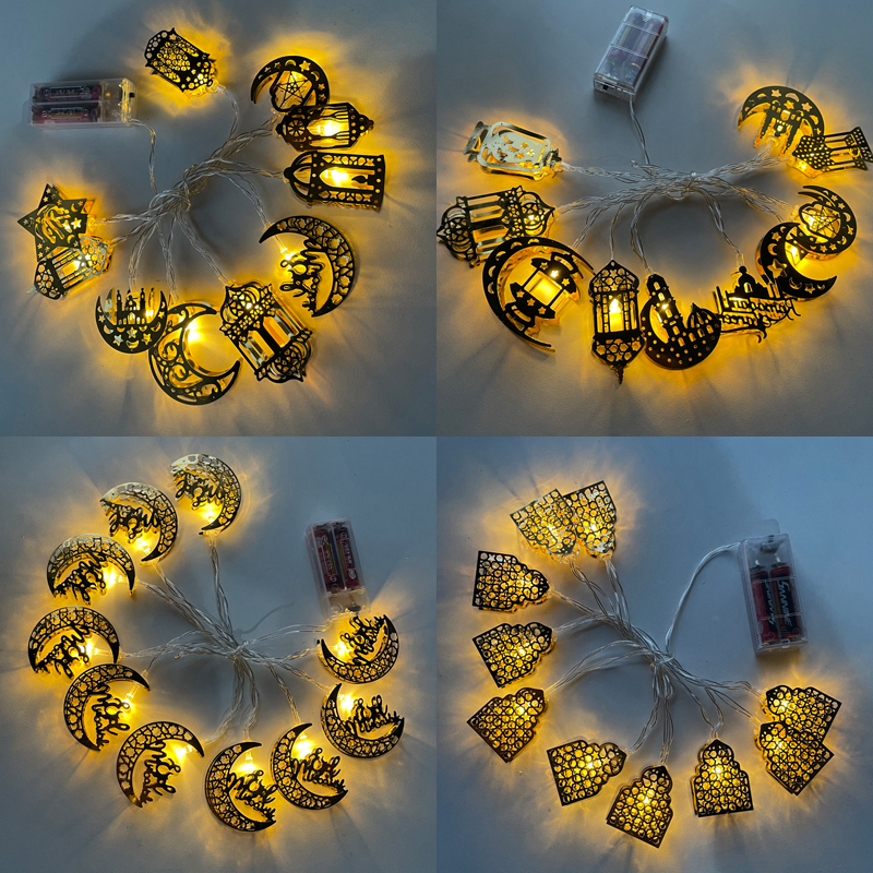 Moon Star Led Light String Eid Mubarak Decor Ramadan Decoraties Voor Huis Moslim Islamitische Decor Hadj Ramadan Kareem Eid Al adha