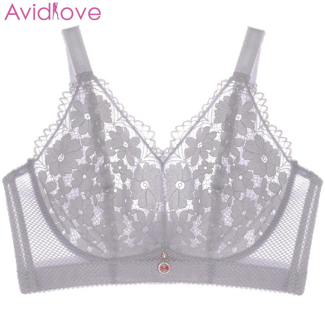 New Women Lace Floral Bra Bustier Wire Free Crop Casual Tops Soft Elastic Mesh Unpadded Bra Sexy No Padded