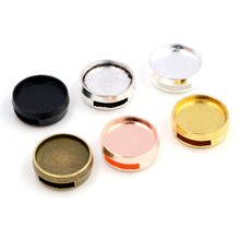16pcs 12mm Inner Size 6 Colors Fashion Style Cabochon Base Cameo Setting Charms Pendant For 8mm Leather Bracelet