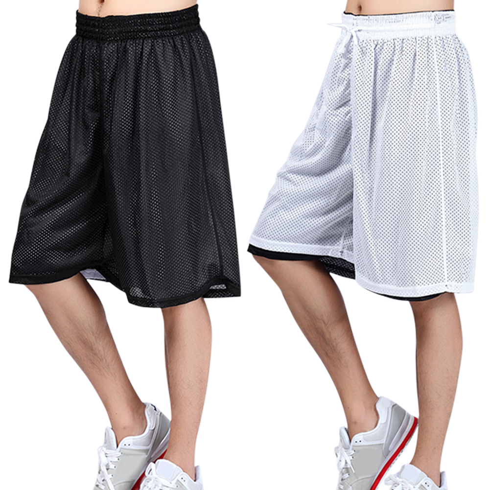 Fashion Basketball Shorts Men Loose Double-sided Mesh Breathable Fitness Workout Quick Dry Half Shorts Pantalon Corto Hombre#38