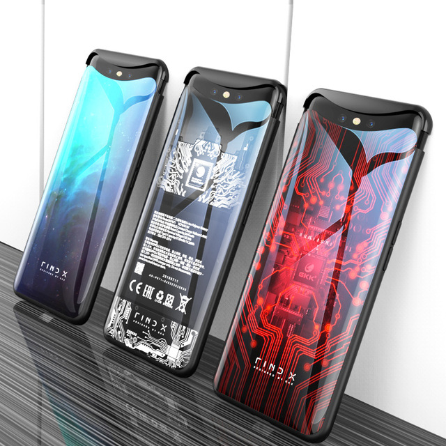 for OPPO Find X Case 6.42 6D Curved Tempered Glass Phone Case Cover for OPPO Find X FindX Cover 360 Full Protective Funda Capa