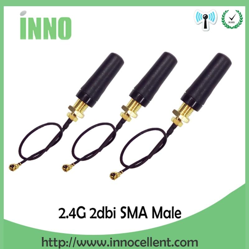 10pcs 3dbi 2.4GHZ WiFi Antenna SMA Male Wireless for Router Modem transmitter