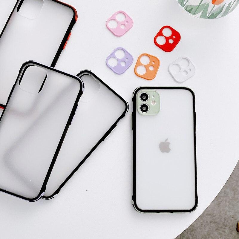TMWBBT Роскошный прозрачный чехол для телефона iPhone 11 12 Pro Max mini SE 2020 X XR XS 6 7 8 Plus с защитой от падения карамельного цвета