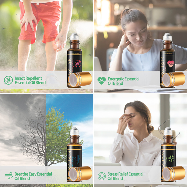 28pcs Pure Natural Essential Oils Gift Set Massage Shower Diffuser Aroma Oil Lavender Vanilla Sage Jasmine Rose Stress Relief 4