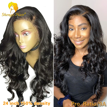 150% Loose Wave Lace Front Wig With Baby Hair 13x6 Remy Hair Brazilian Lace Front Human Hair Wigs For Black Women Fake Scalp Wig