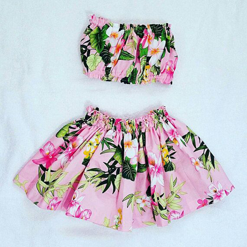Children Europe And America Summer Style Tour Bathing Suit Girls Fen Ti Zhuang Flower Bathing Suit Two-Piece Set Childrenswear I