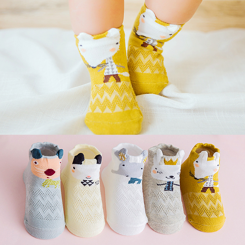 5 Pairs/Lot 0-3Y Baby Boy Girl Socks Cotton Newborn Socks Set Spring Summer 2020 Cartoon Cute Infant Sock For Kids Sokken