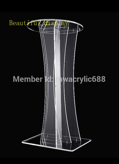 Free Shipping Transparent Modern Design Cheap Clear Acrylic Lectern|Theater Furniture| |  - title=