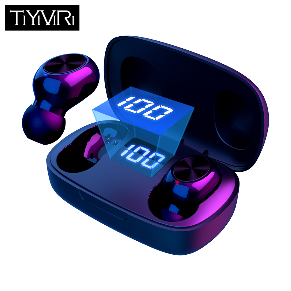 TWS Wireless Bluetooth Earphones 6D Hifi Stereo Bass Sports Headset Waterproof Noise Cancelling Handsfree With Mic Led Display