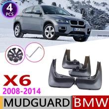Frente Traseira Mudflap para BMW X6 E71 2008 ~ 2014 Lamas Lamas do Respingo Flaps Fender Flap Mud Guard Acessórios 2009 2010 2011 2012 2013