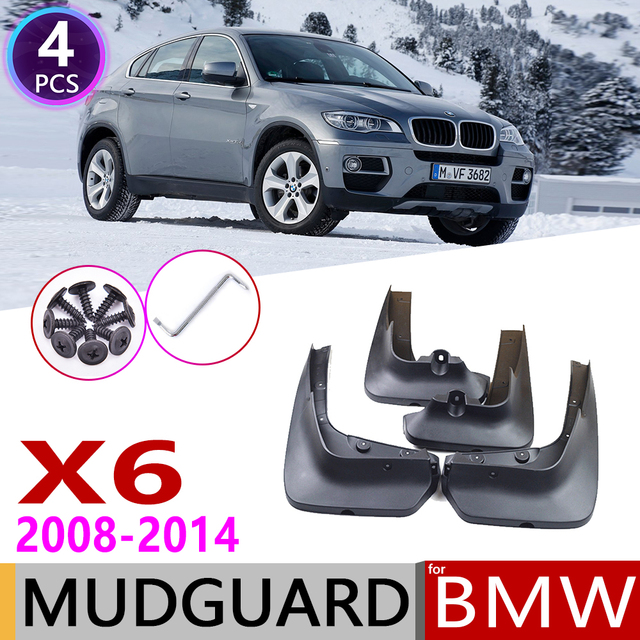 Front Rear Mudflap for BMW X6 E71 2008~2014 Fender Mud Guard Flap Splash Flaps Mudguards Accessories 2009 2010 2011 2012 2013