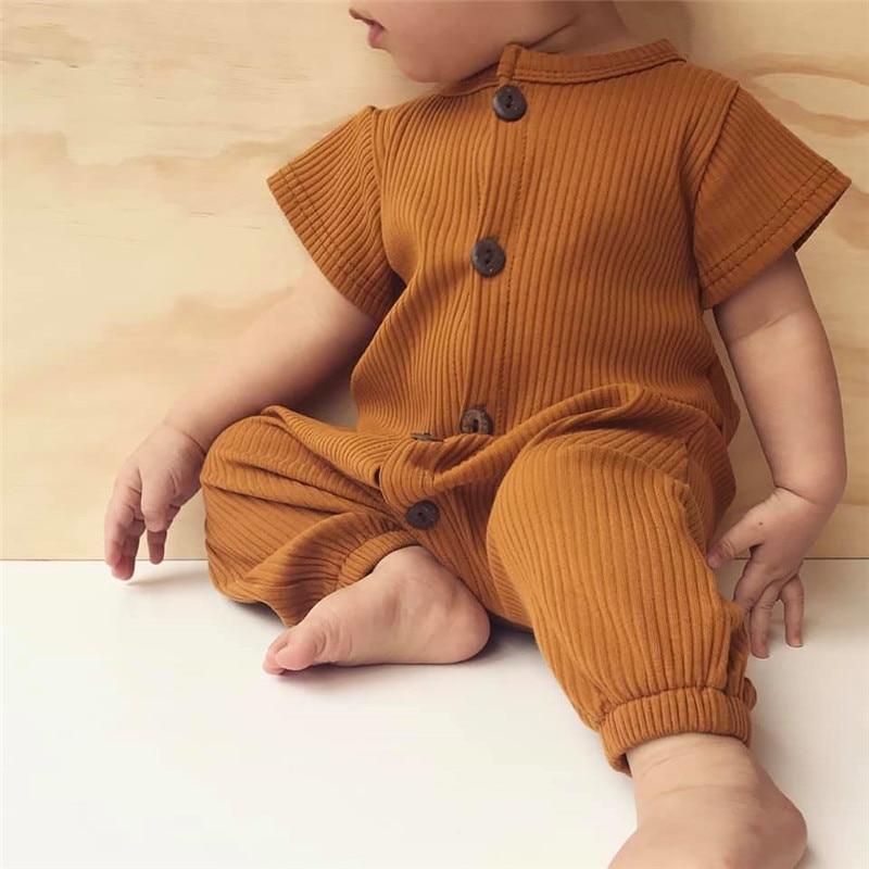 Рельефные летние комбинезоны для младенцев размером * ow, высококачественные модальные ребристые Комбинезоны для младенцев 2