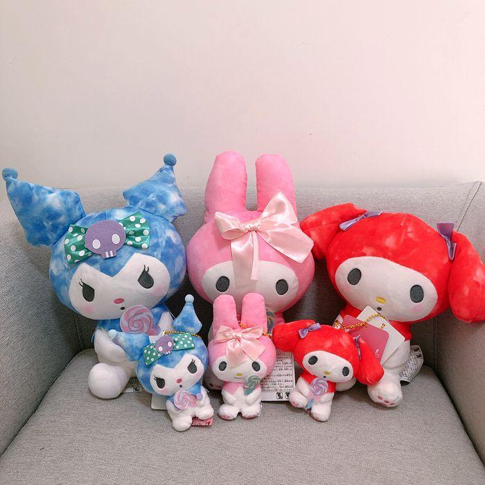 1PC New Melody Kuromi Lollipop Stuffed Plush Toys Japan Anime Dolls Girls Gifts