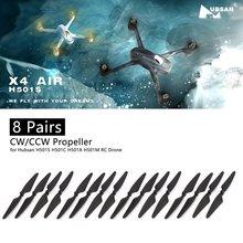 цена на 8 Pairs CW/CCW Propeller Props Blade RC Parts for Hubsan H501S H501C H501A H501M 501 RC Quadcopter RC Drone Aircraft