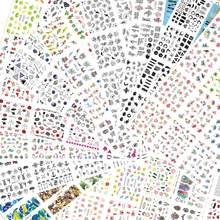 12 дизайнерские наклейки для ногтей комплект цветочный принт геометрический принт сексуальная девушка Nail Art Наклейки переводятся при помощ...