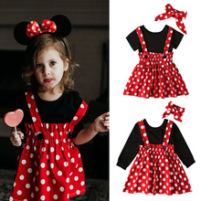 girls kids black top with red polka dot suspender skirts clothing set,minnie design outfit,mustard floral print plaid outfit цены онлайн
