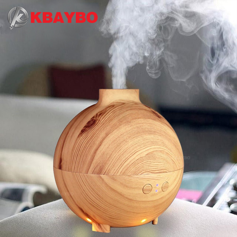 600ml Hot Sale LEDLight Ultrasonic Air Humidifier Mist Maker Fogger Electric Aroma Diffuser Essential Oil Aromatherapy Household