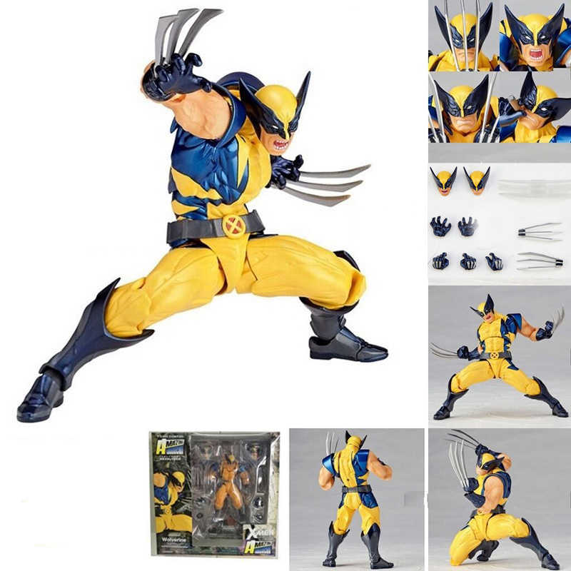 Marvel Revoltech Incredibile Super hero X-Men Wolverine Logan Howlett PVC Action Figure Da Collezione Per I Bambini Giocattoli Regali Brinquedos