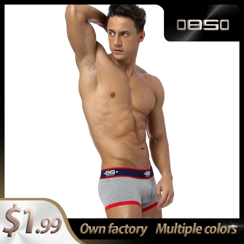 Lingeries Cotton Patchwork Comfortable Sexy Men Underwear Boxer Shorts Boxer For Men Mens Boxershorts Underware Boxers Gay BS138