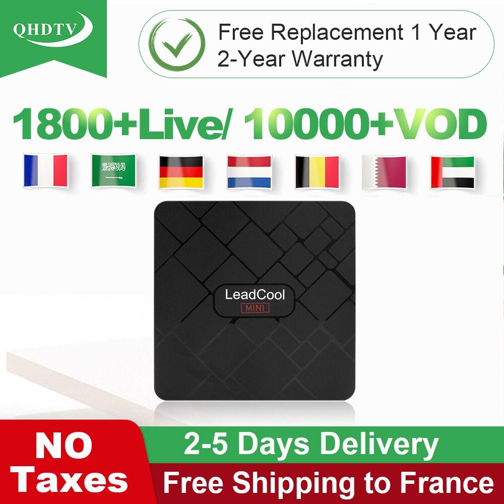 QHDTV Code IPTV France arabe IPTV abonnement allemagne belgique pays-bas Leadcool Mini Android 8.1 TV Box italie espagne IP TV
