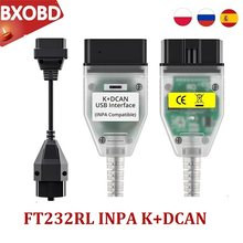 Obd2 para bmw inpa k dcan ft232rl com interruptor para bmw scanner inpa k + pode interface cabo inpa para bmw inpa k + dcan obd2 scanner