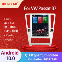 Car Radio DVD Player For VW Passat B7 9.7 Inch DSP Android 10.0 GPS Multimedia Navigation Video Caprplay No 2din