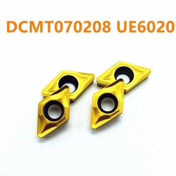 Carburo de tungsteno DCMT070208 UE6020 herramienta de inserción de carburo DCMT 070208 herramienta de fresado de extremo CNC