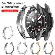 Ultra-fina capa protetora para samsung galaxy watch 3 45mm 41mm watch3 45mm caso smartwatch silicone macio pára coque