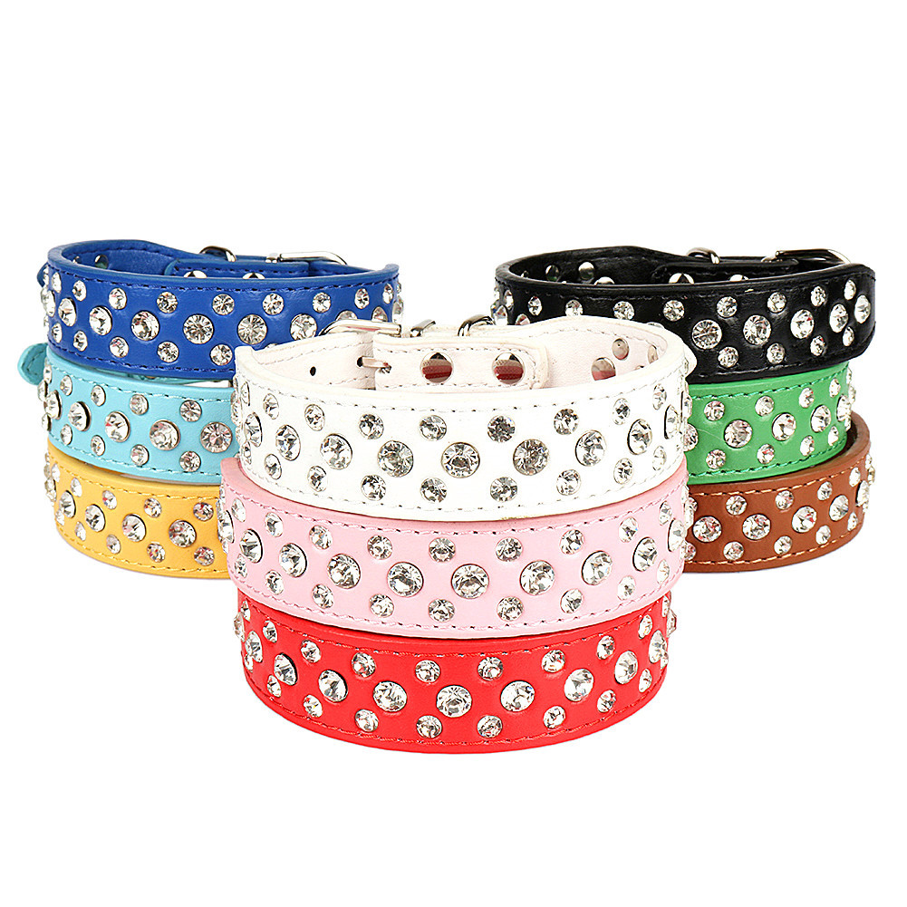 Puppy Collar Crystal Pet Xiang Quan Lian Alloy Accessories Dog Collar Accessories