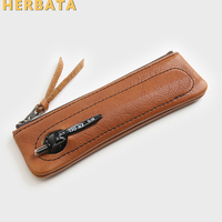 Retro Personality Simple Leather Student Pen Case Stationery Storage Pencil Case