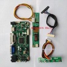 """NT68676(HDMI + DVI + VGA) עבור 30pin 15.4 """"LTN154AT07 1280X800 פנל 1 מנורות ערכת מסך LCD בקר לוח נהג VGA"""